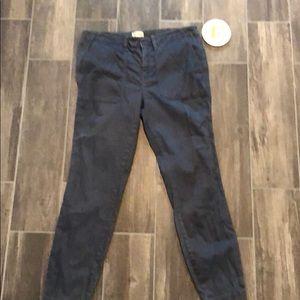 J. Crew Slim Ankle Navy Khaki Pants 31
